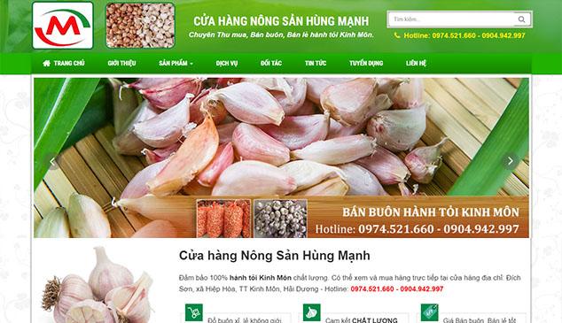 Thiết Kế Website Hành Tỏi Kinh Môn